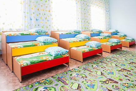 Кровати для детских садов выкатные в Красноярске.