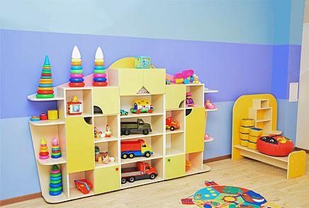 Игровая мебель Красноярск • Стеллажи для детских садов.