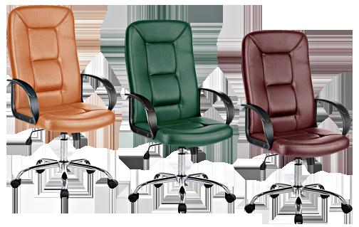 Офисное кресло экокожа для руководителя
