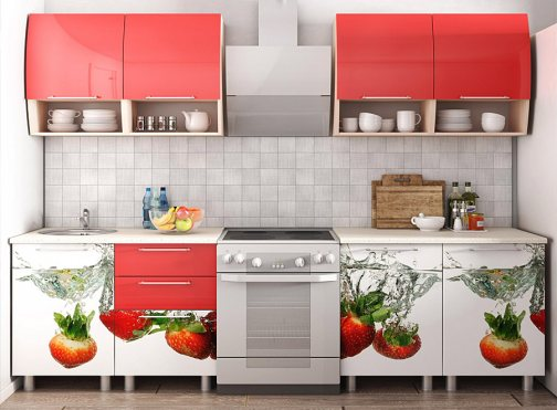 кухня с фото печатью эконом