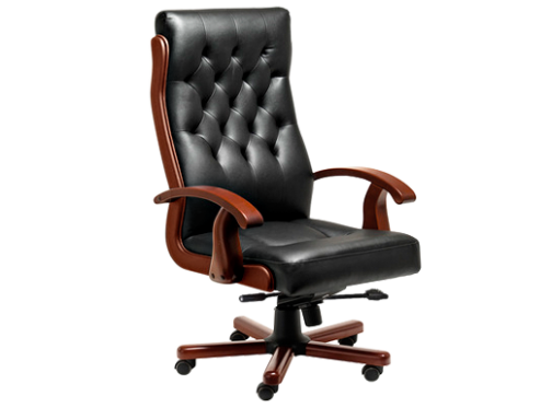 Кресло из натуральной кожи для офиса