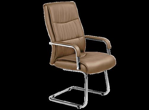 Кресло офисное на хромированных полозьях