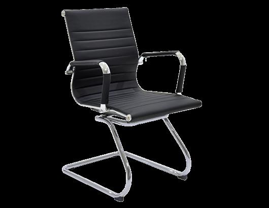 Кресло на полозьях хромированное