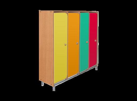 Шкаф для детского сада на металлокаркасе