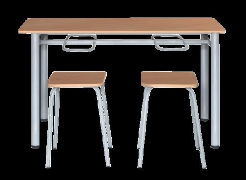 Стол с подвесами для школьных столовых