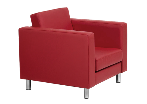 Офисный диван - кресло из экокожи