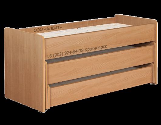 Кровать трехъярусная для детского садика