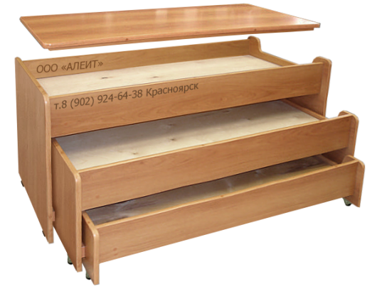 Кровать с крышкой для детского сада