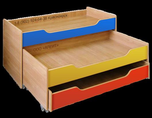 Детская кровать с лестницей для детских садиков