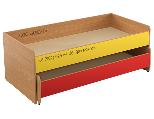 Кровать двухъярусная для детского сада