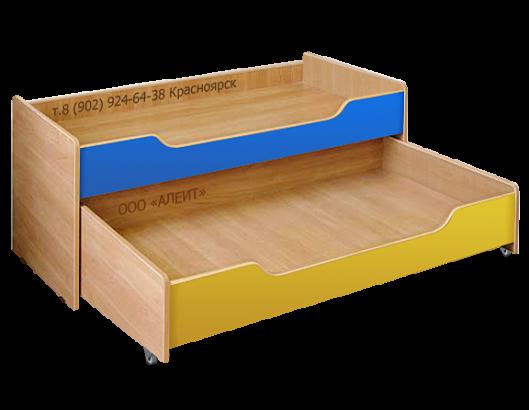Детская двухъярусная кровать с крышкой