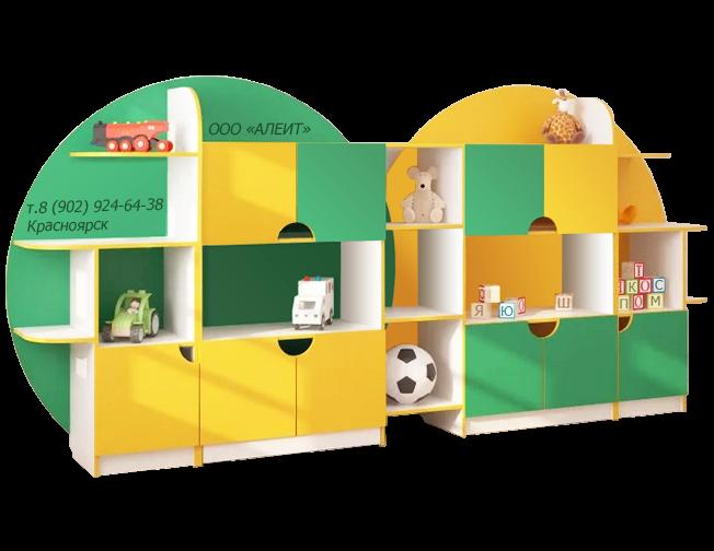 Стеллаж для детских садов.