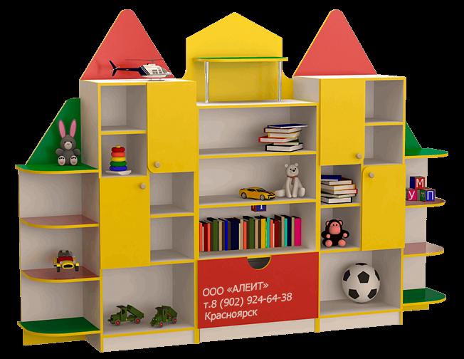Мебель детская стеллаж для детских садов
