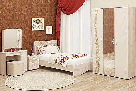 Купить мебель для спальни Красноярск • Модульная спальня недорого.